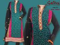 0715- Salitex Chiffon a line frocks designs fancy ladies suits ladies salwar suit design