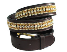 Three Row Crystal Leather Belts