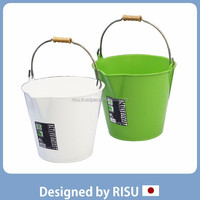 Popular agriculture farming plastic bucket with handle with Japanese style