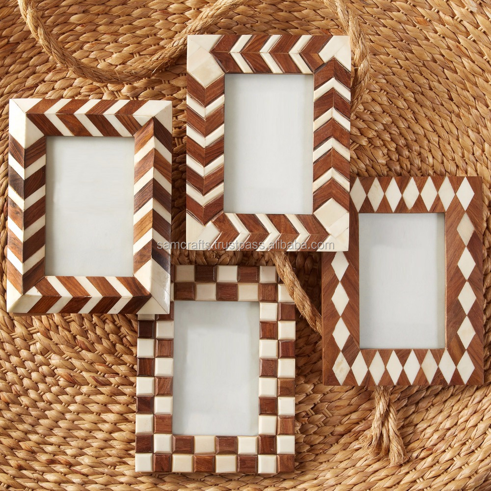 Handmade Natural Wood & Resin Decorative Photo Frame/Picture Frame 2
