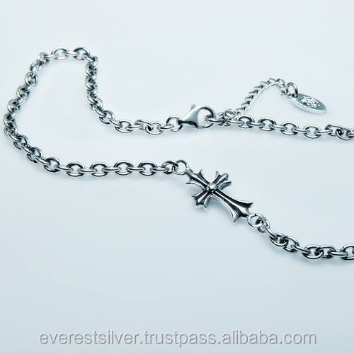 Hot item Factory price cross Necklace silver 925 chain thailand handmade