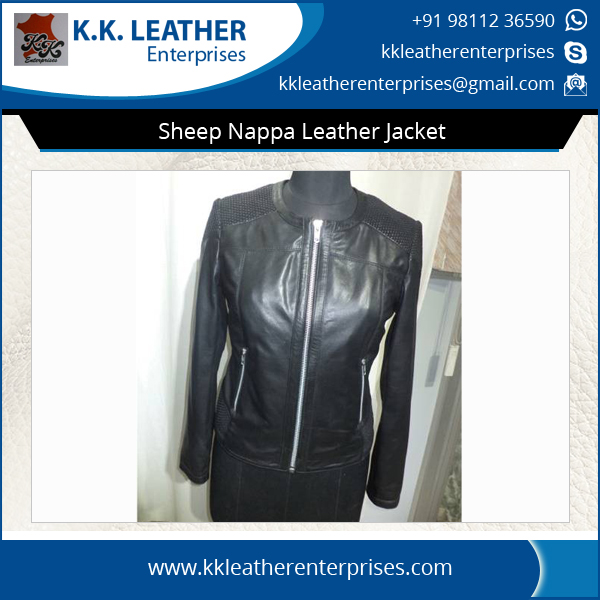 Best Selling Low Price Sheep Nappa Leather Jacket for Women