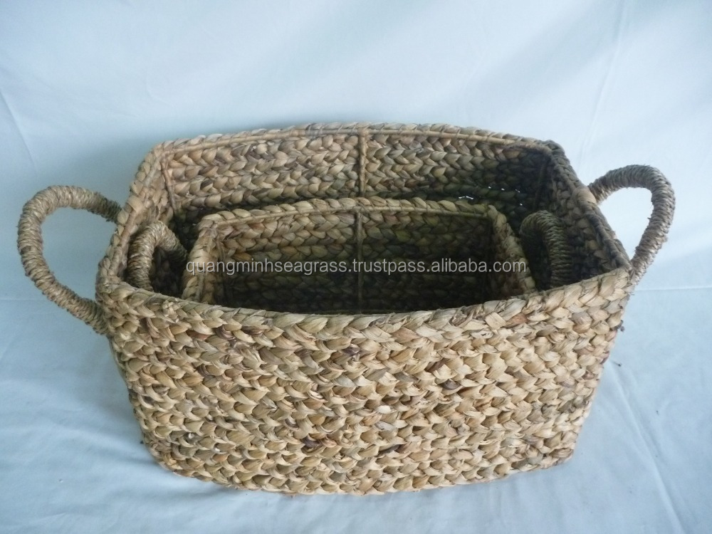 100% hand woven natural rattan laundry basket wicker fire wood basket high quality