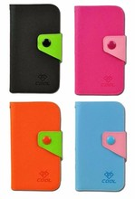 PU Canvas Rainbow Cover Flip Case for Lenovo A390