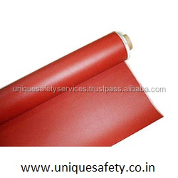 Red Silicone Rubber Coated glass fabrics