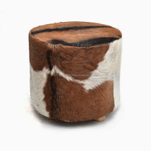Goat Skin Natural fur Stool