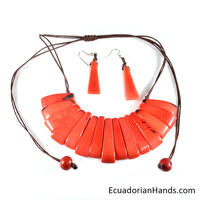 Necklaces And Earrings - Handmade Eco Ivory Tagua Jewelry (Jc001-I)