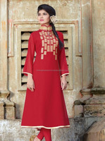Red Color Georgette Evening Party Wear
