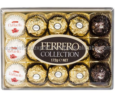 Ferrero Collection Chocolates T15 Rocher Rondnoir Raffaello 15pk 172g