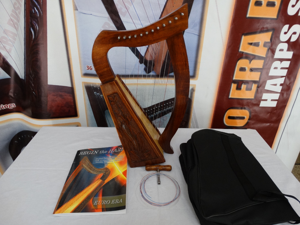 12 string irish harp , irish baby harp 12 strings with tuning key & bag & tutor book