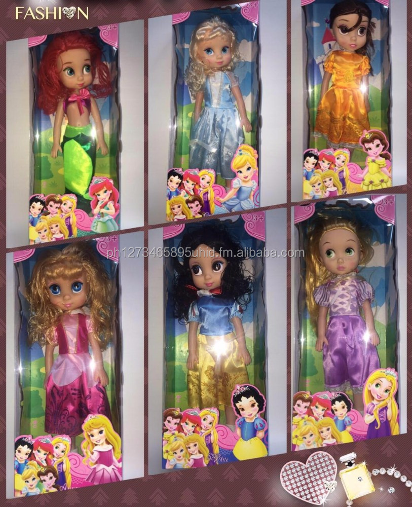 cartoon princess lovely dolls with music and light fashion doll