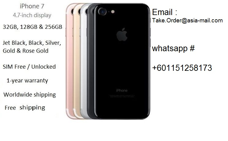 Buy 3Pcs get 1 free For Apple iPhone 7 and 6S Plus 32 GB 128 GB 256 GB - All colors available /whatsApp: 601151258173