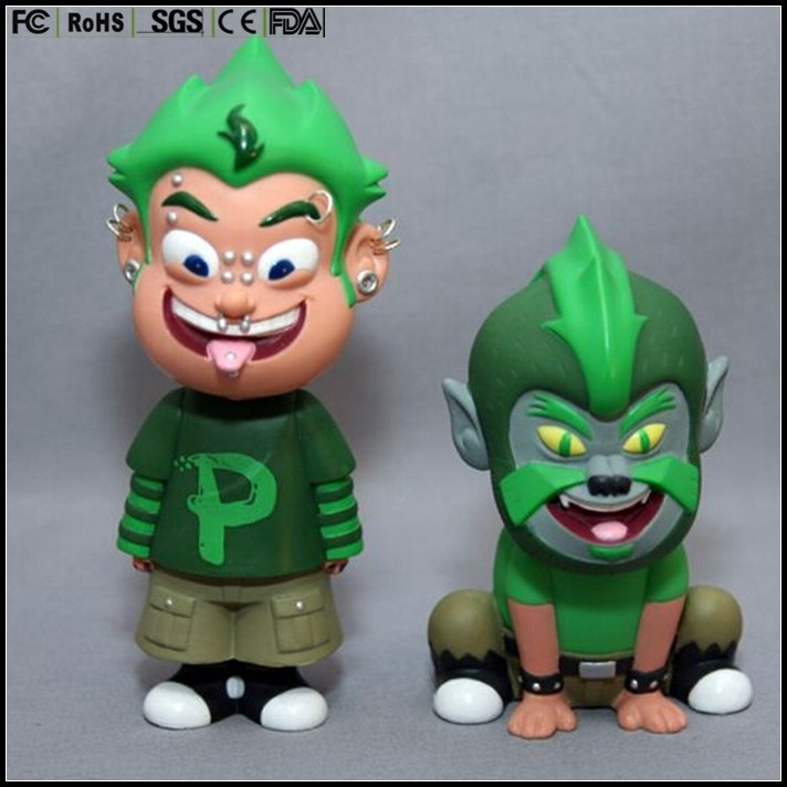5 inch custom made customized only Green monkey plastic vinyl toys