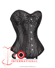 Silver-Burlesque-Corsets, Steel Boned Burlesque Corsets , Corsets Wholesale Supplier and Manufacturer, Corset, Special Corset,