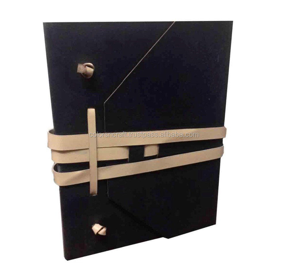 Colorsncraft Genuine Leather Black Another Color Option Of Above Product Notebook Of 100 Pages