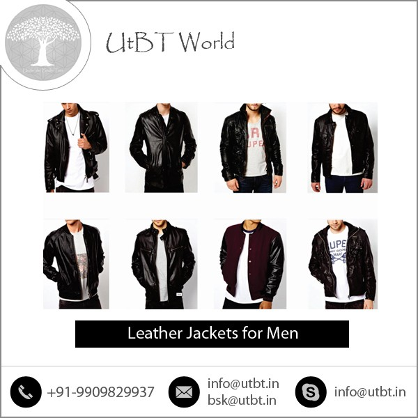 High End Quality All Season Supporting Pure Leather Jackets for Men at Economical Price