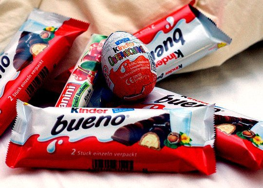 Kinder Bueno 43g, Kinder Chocolate 50g, Kinder Surprise Eggs