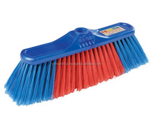 plastic broom brush with wooden stick