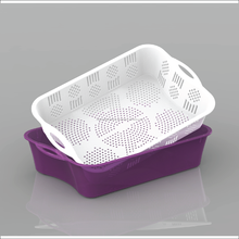 Plastic basket is one of leading brand in Vietnam- Small Rectangle Basket & Basin set