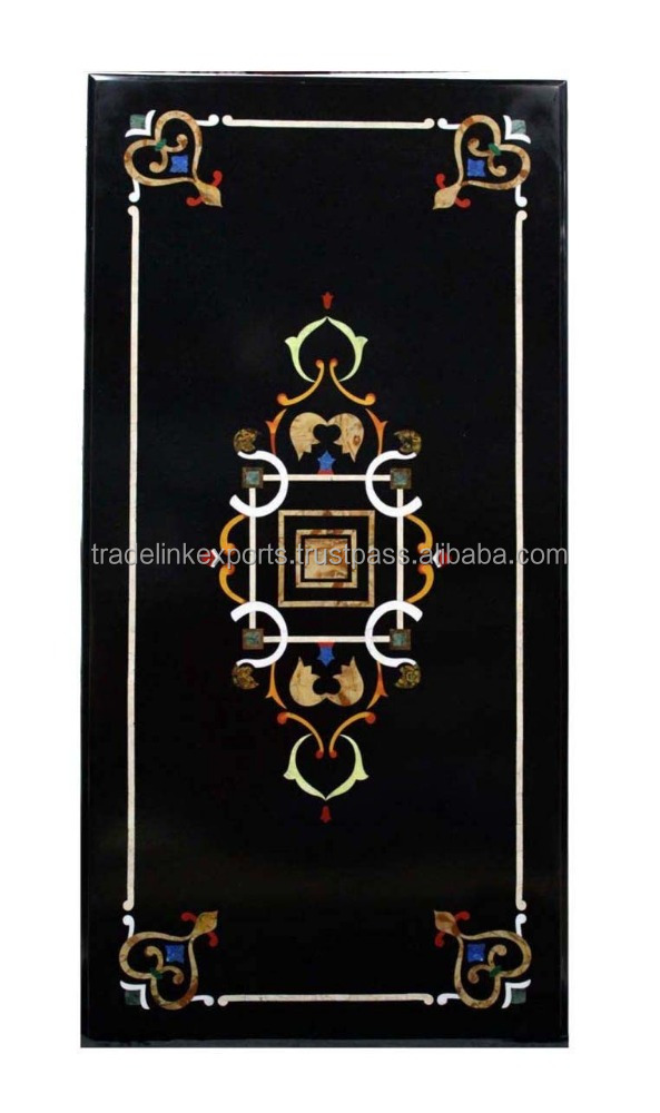 Pietra Dura Dining Tables With Marble Inlay Antique Home Decor Inlaid Table Tops