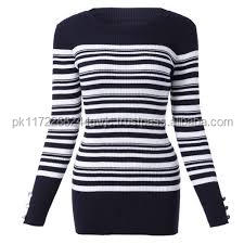 European fashion and winter women long sleeve boat neck striped sweater pullover bottoming knit sweater