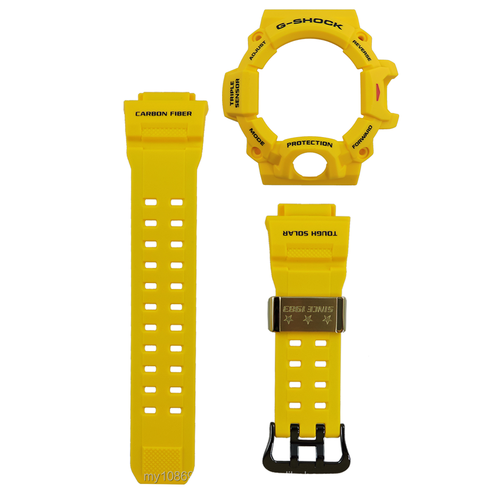 Casio G-Shock GW-9430EJ-9 Carbon Fibre Watch Band and Bezel Resin Yellow Color