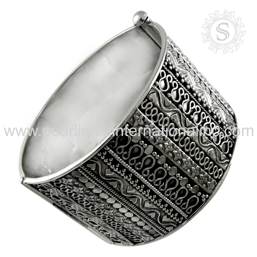 High Polish Women Fashion Bangle Solid Silver Material Of 925 Sterling Silver Jewelry Wholesale Bangle