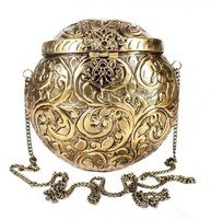 round style metal clutch