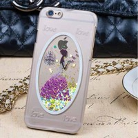 IMPRUE New Arrival Cute Girl/Boy pattern design bling phone case back cover for iphone6 plus