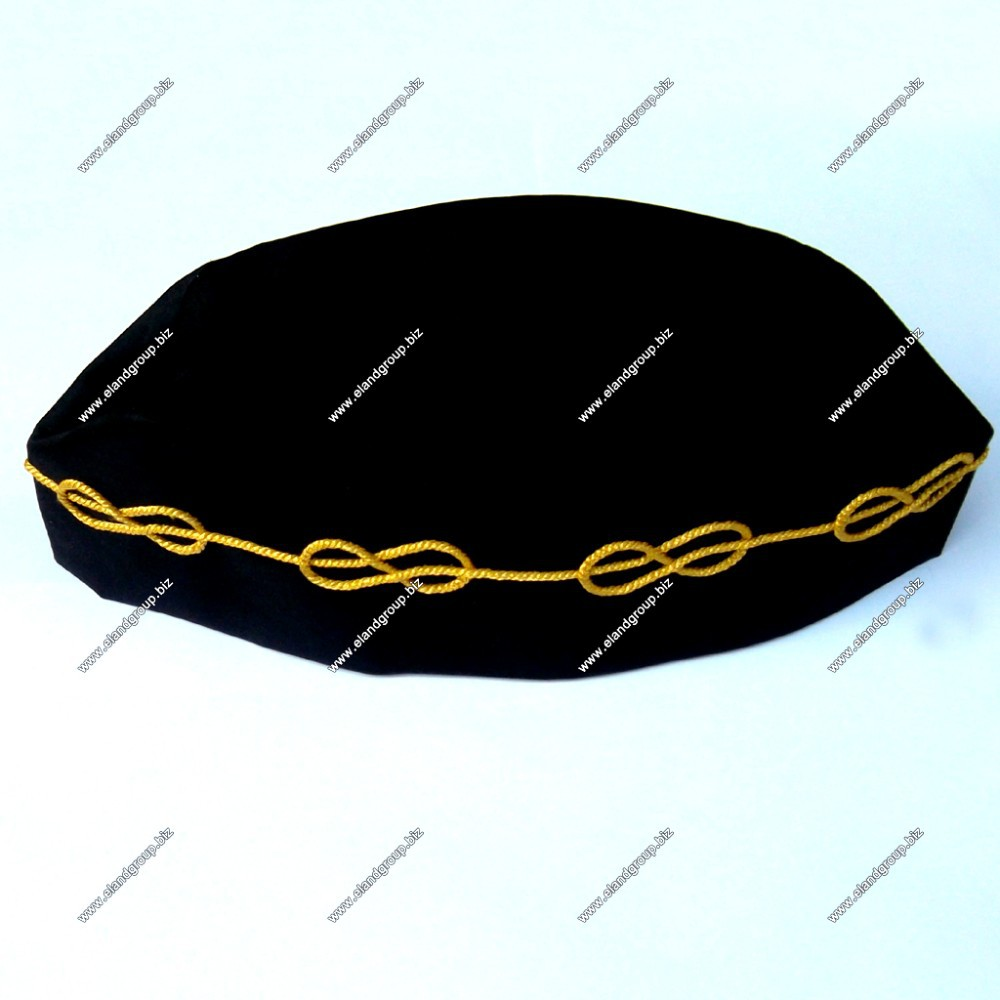 MM Cap with Mylar Wire Chain | Masonic MM Hat Supplier | Master Mason Hat Supplier