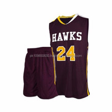 Low Price High Quality New Style Fashion Basketball Uniform For Youth Men