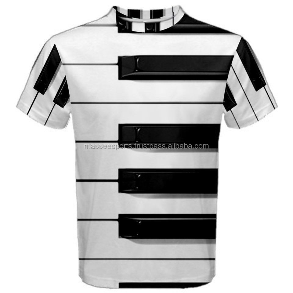 printed t-shirt piano keyboards latest Design