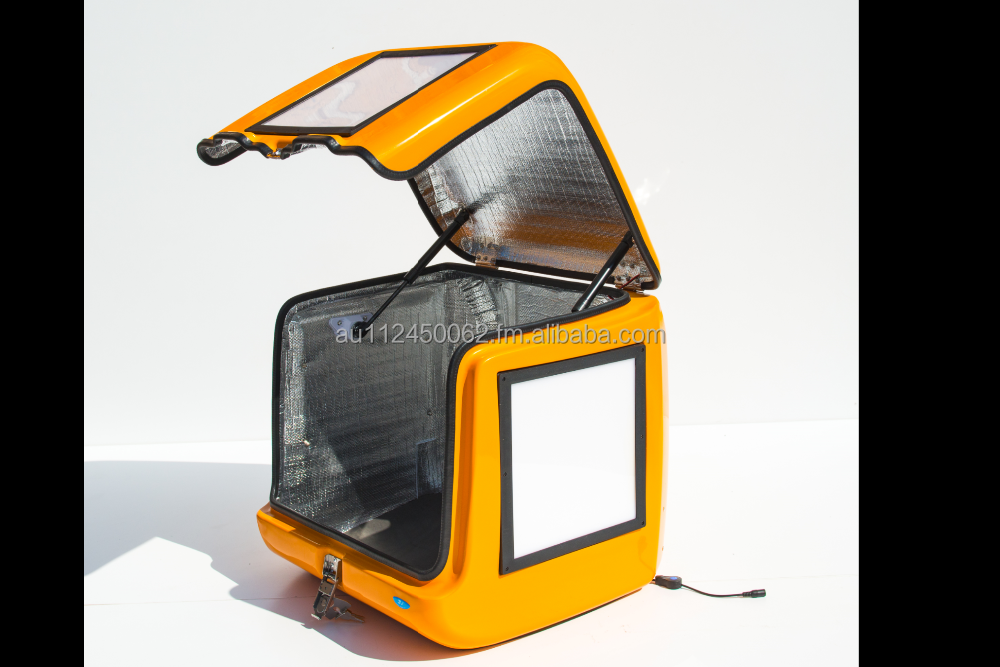 Scooter food delivery box with LED PANEL