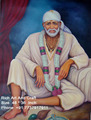 India Sai Baba of Shirdi Saint Indian Canvas Oil Painting
