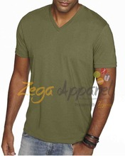 Zega Apparel Blank tshirt mixed texture 100 cotton zip front v neck t shirts