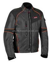 Motorbike Textile Jackets PW-MTJ-0091(Black with orange piping)