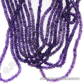 wholesale amethyst faceted gemstone beads strands rondelle top quality jewelry