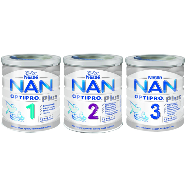 NAN OPTIPRO PLUS 1-3 / Modified milk powder for baby