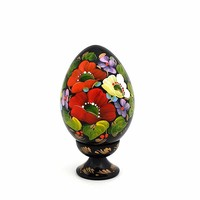 Wooden Hand Painted Easter Egg