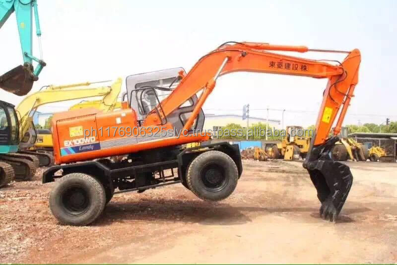 Original Japan Hitachi EX100WD-1 Wheel Excavator, Hitachi EX100 Wheeled Excavator for sale