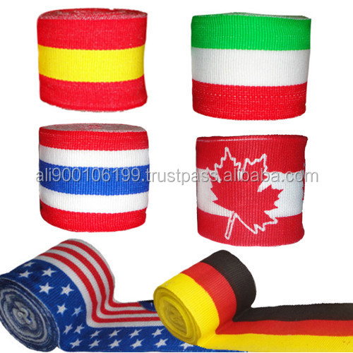 Flag printed Boxing Hand wraps