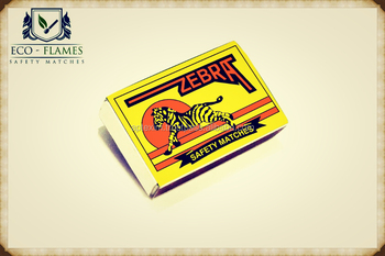 Zebra Brand safety color matches with 1000 Matches in a Carton