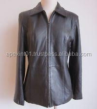 Dubai leather jacket for women