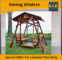 Outdoor Solid Wood swing gliders