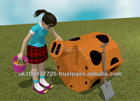 Garden Composter For Kids Rolypig recycles food waste in a fun way
