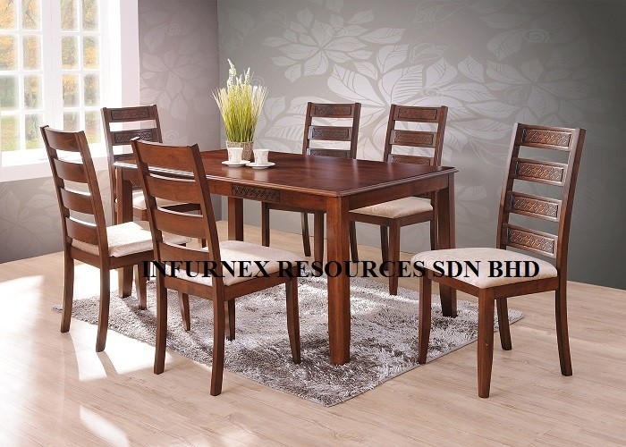 Solid RubberwoodDining Set 1 6Dining TableDining Chair