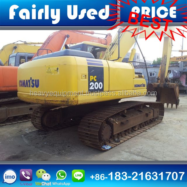 Cheap Used Crawler Excavator Komats PC200-7 of Used PC200-7 Excavator