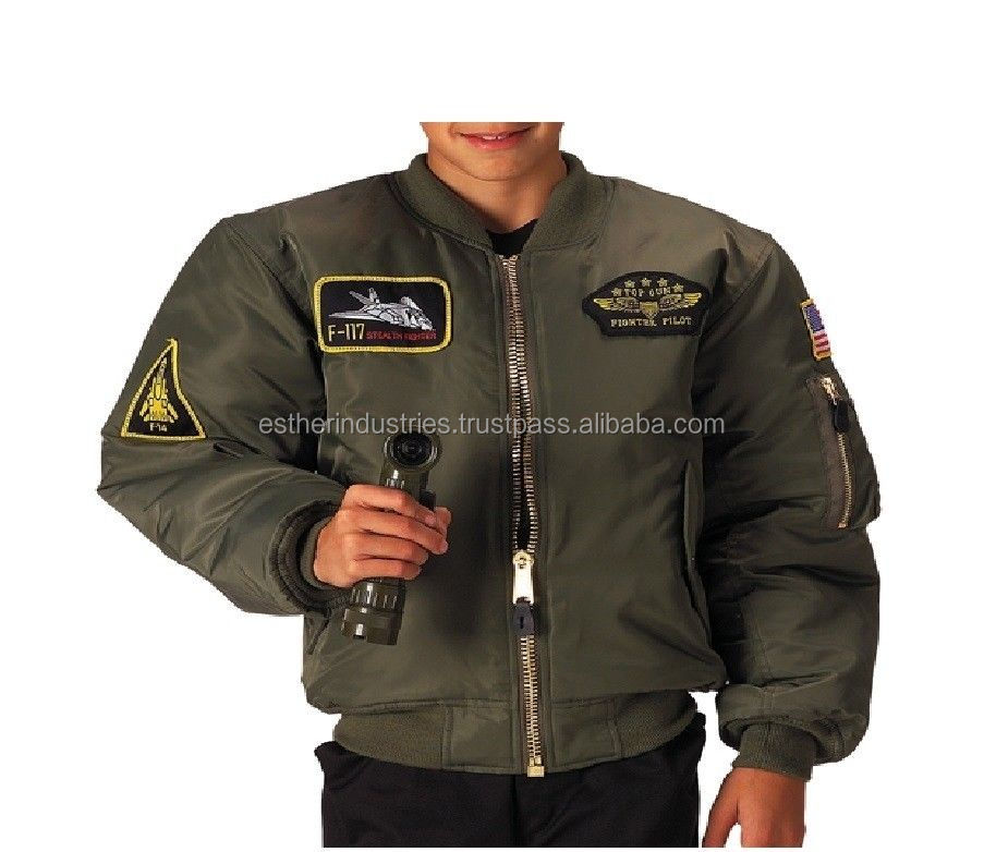 Boys- Kids Top Gun MA-1 Flight Jacket/adult bomber jacket/MA-1 Flight Jacket/Flight Jacke