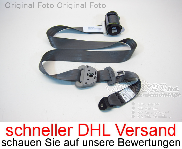 safety belt rear left for Toyota Hilux III pickup 08.05- (104950)