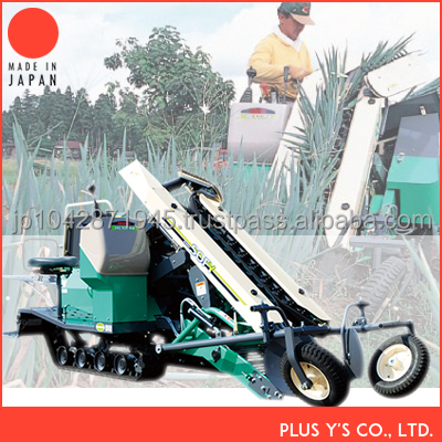 Equipped with horizontal system Onion harvester machine Made in Japan